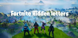 F O R T Hidden Fortnite Letters
