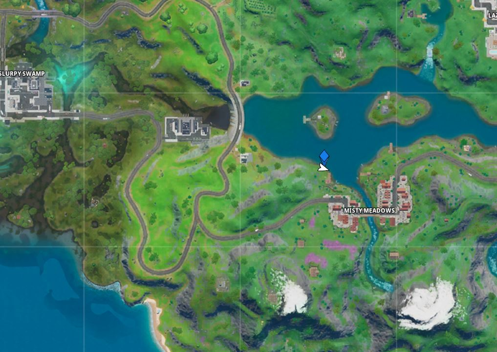 Fortnite Swimming Time Trial East of Hydro 16 Map Location