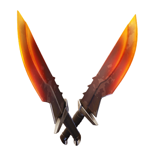 Fortnite v11.20 Leaked Pickaxe - Burning Blades