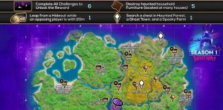 Fortnitemares Challenges Cheat Sheet Fortnite Map