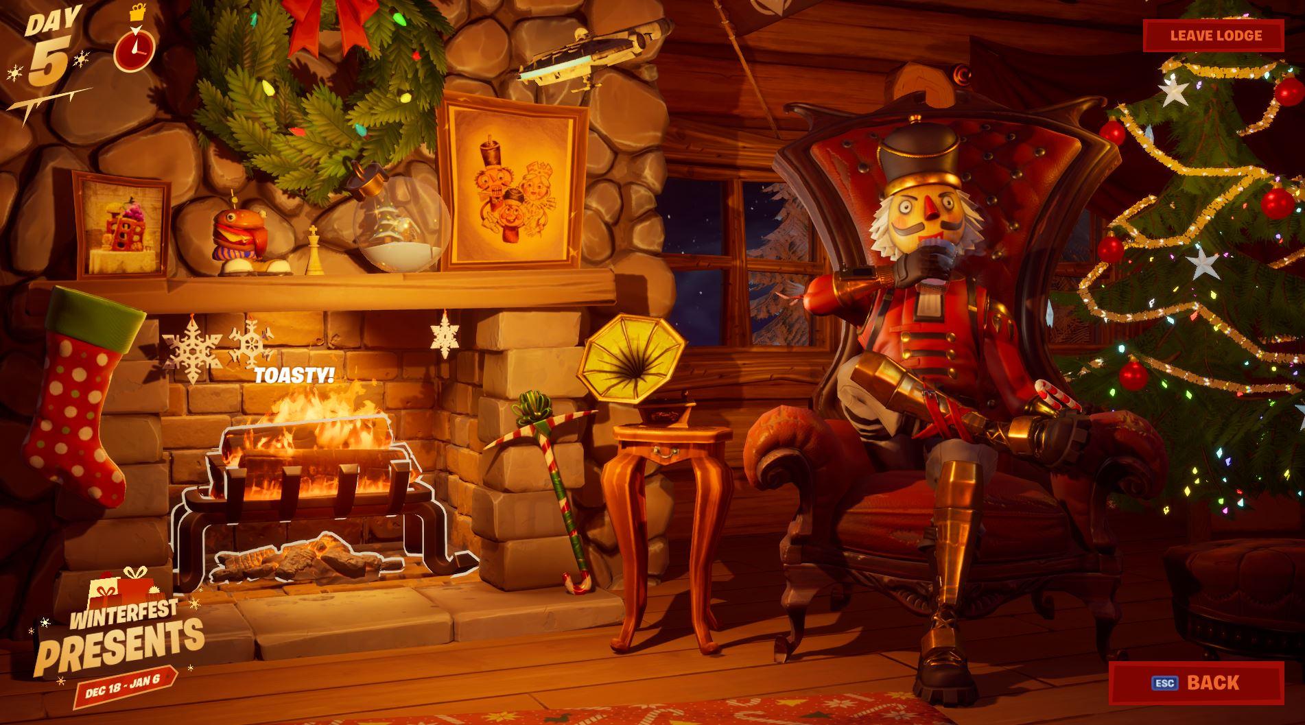Crackshot Winterfest Fortnite Lodge