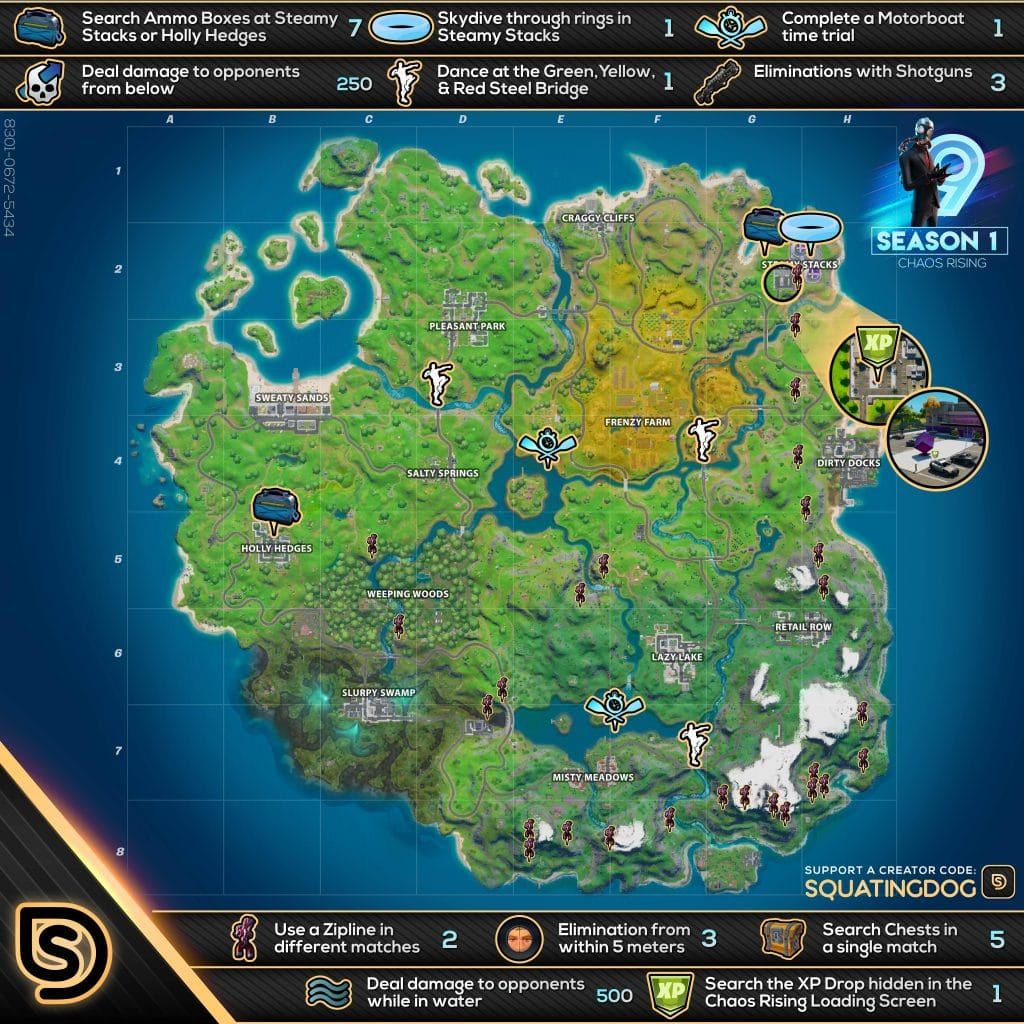Fortnite Chaos Rising Challenges Cheat Sheet - Steel ...