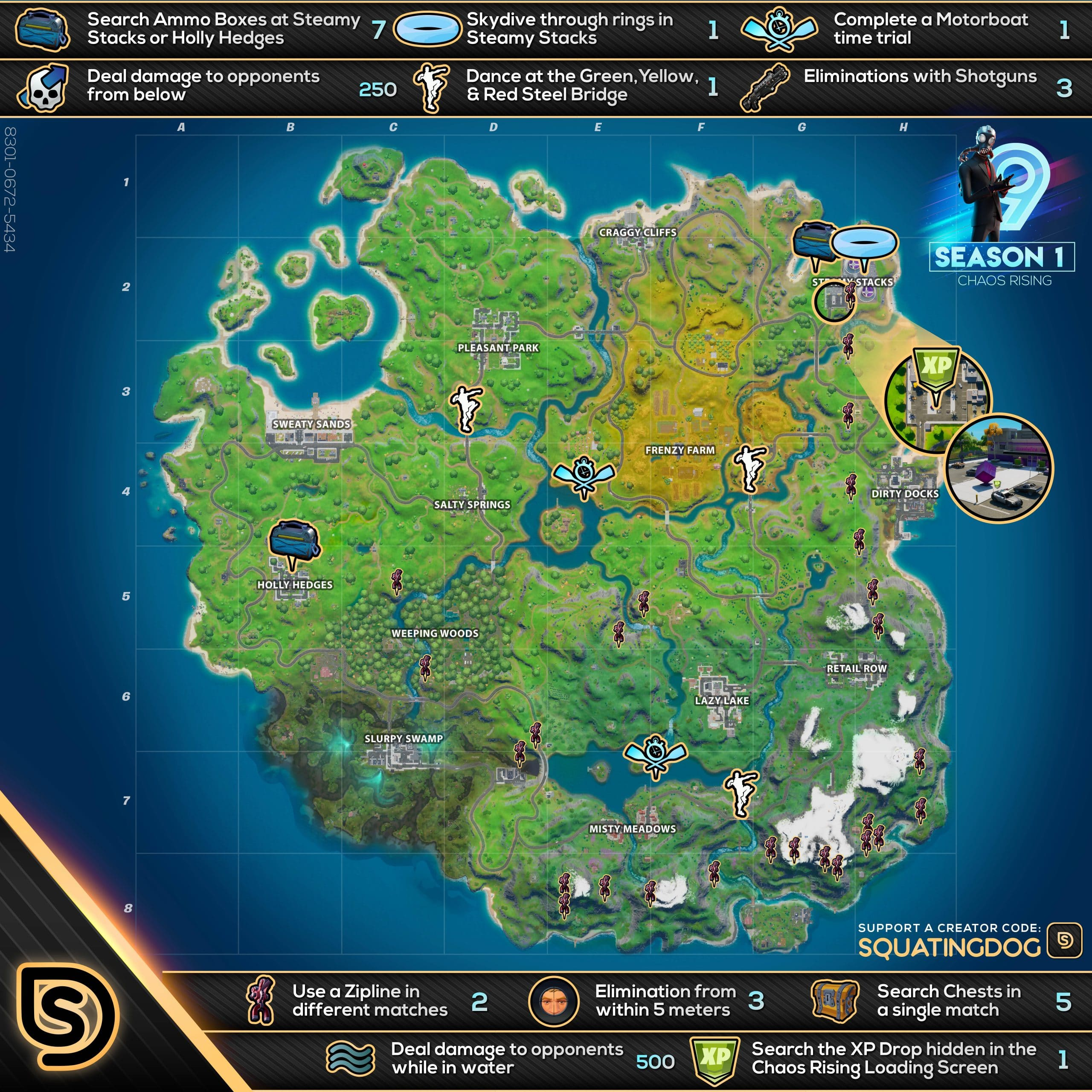 Fortnite Chaos Rising Week 9 Challenges Cheat Sheet