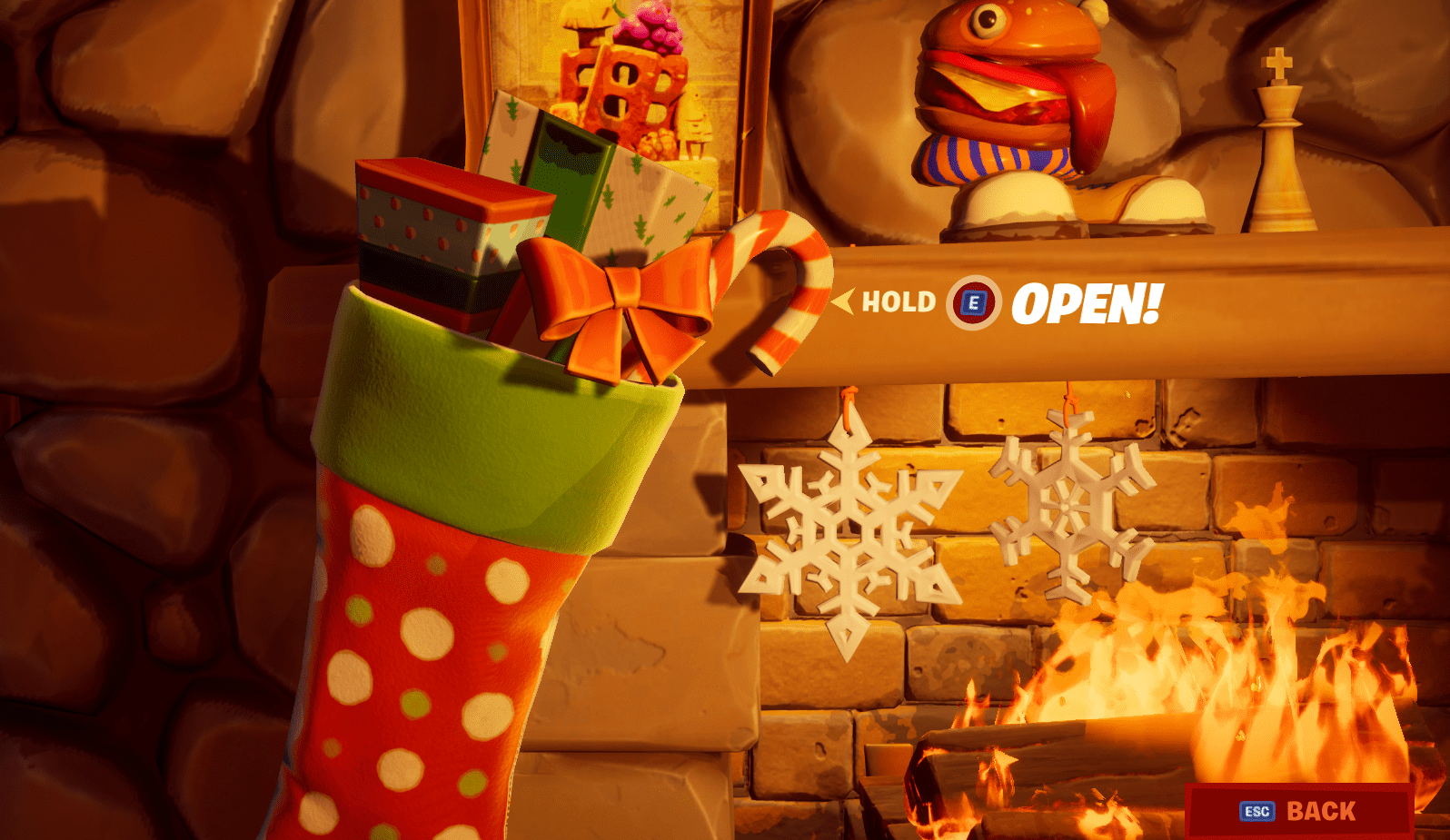Fortnite Search the Holiday Stockings in the Winterfest Cabin