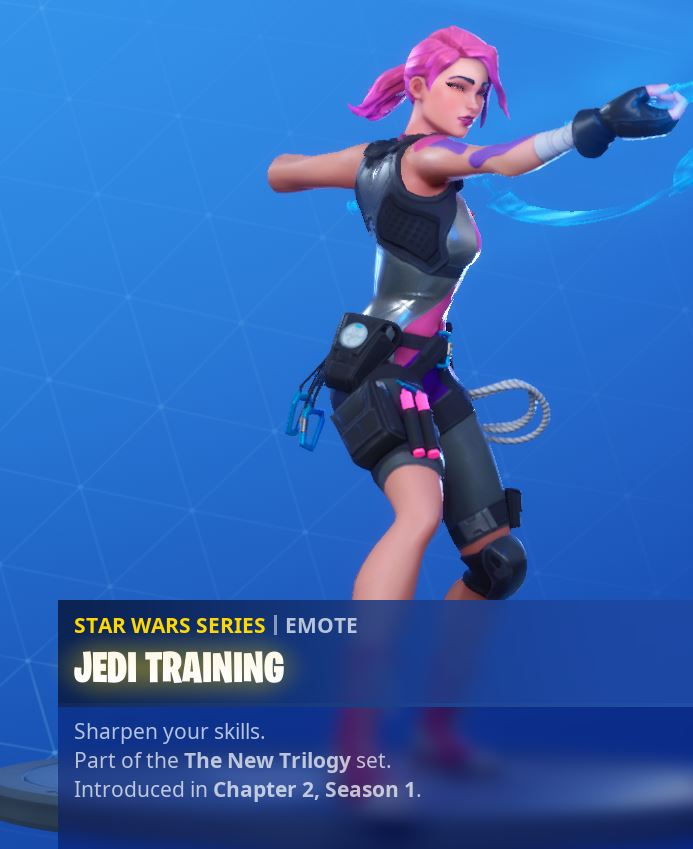 Fortnite Jedi Training Reward Emote
