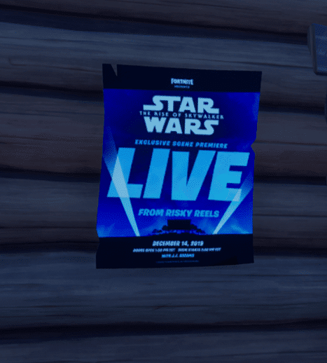 Fortnite Star Wars Exclusive Screening Poster