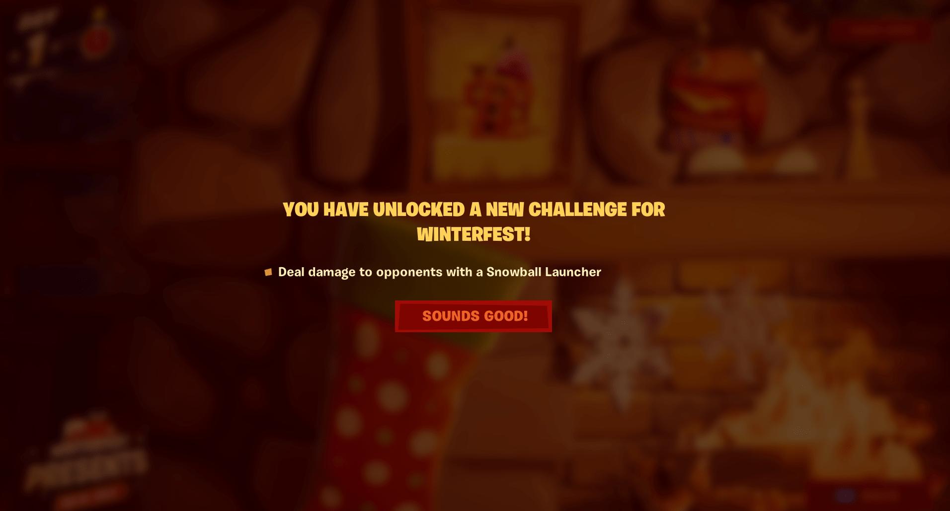 Fortnite Winterfest Challenge - Day 1 Stage 2 Challenge