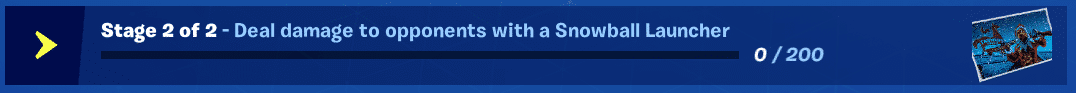Fortnite Winterfest Day 1 Stage 2 Snowball Launcher Challenge