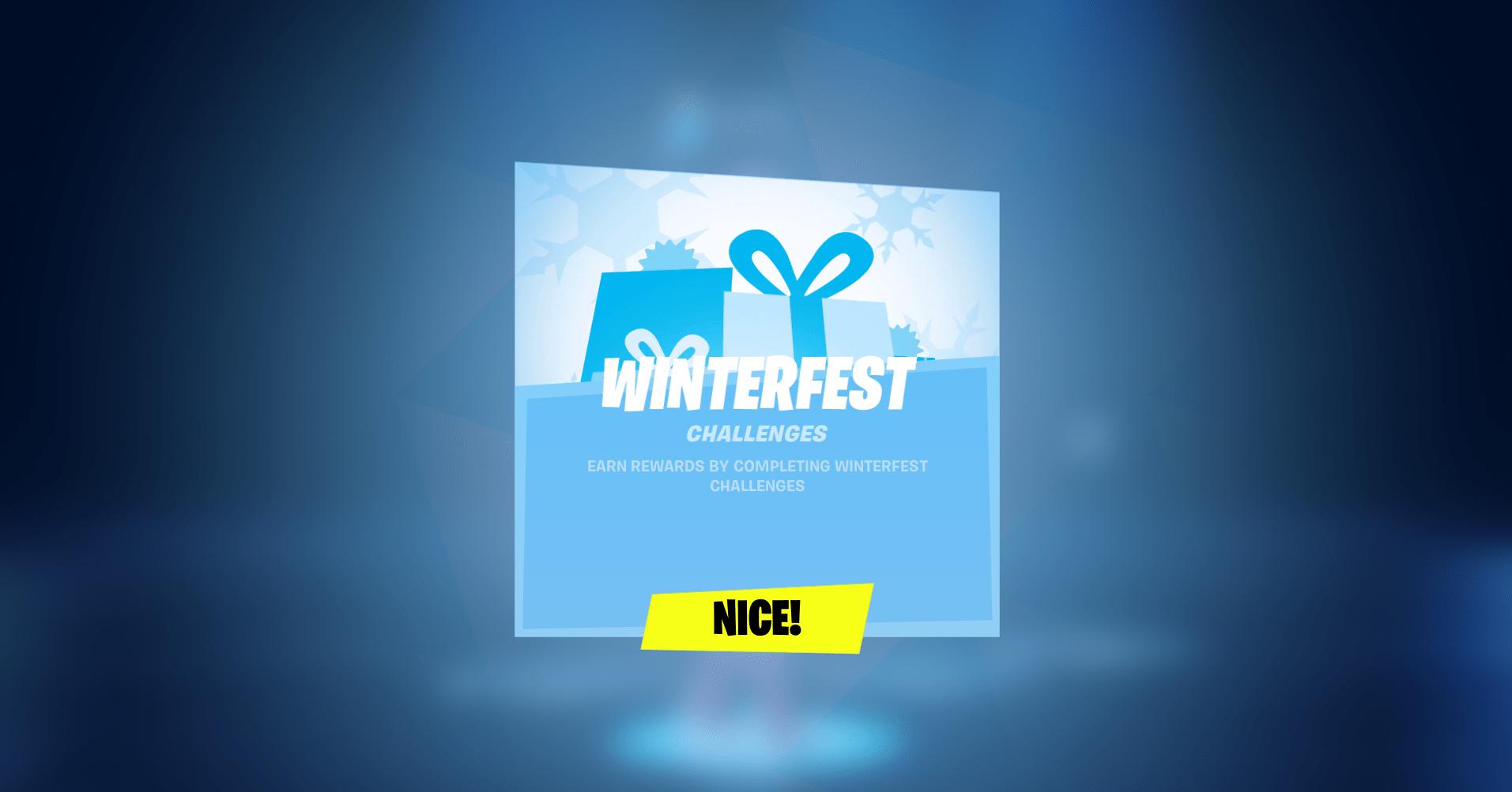 Fortnite Winterfest Event Started