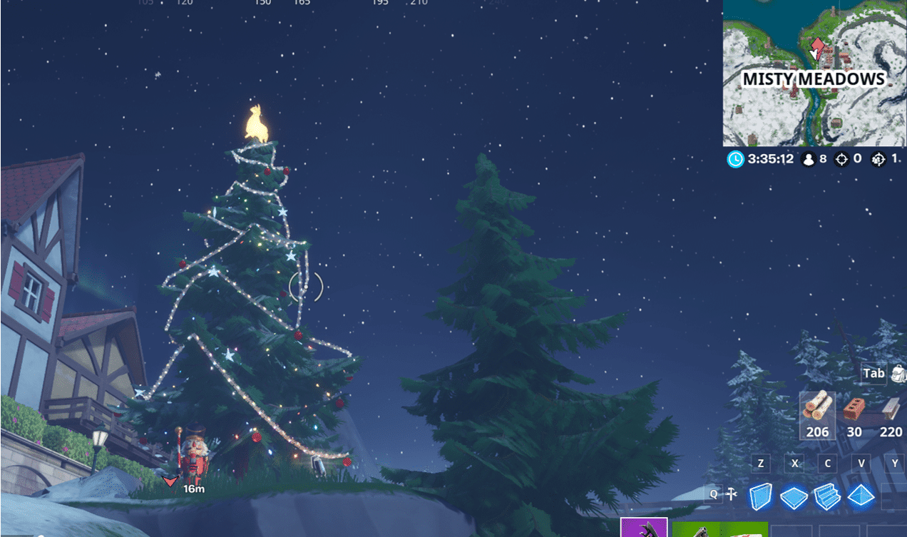 Fortnite Winterfest Holiday Tree Locations - Misty Meadows