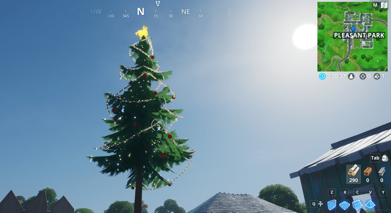 Fortnite Winterfest Holiday Tree Locations - Pleasant Park