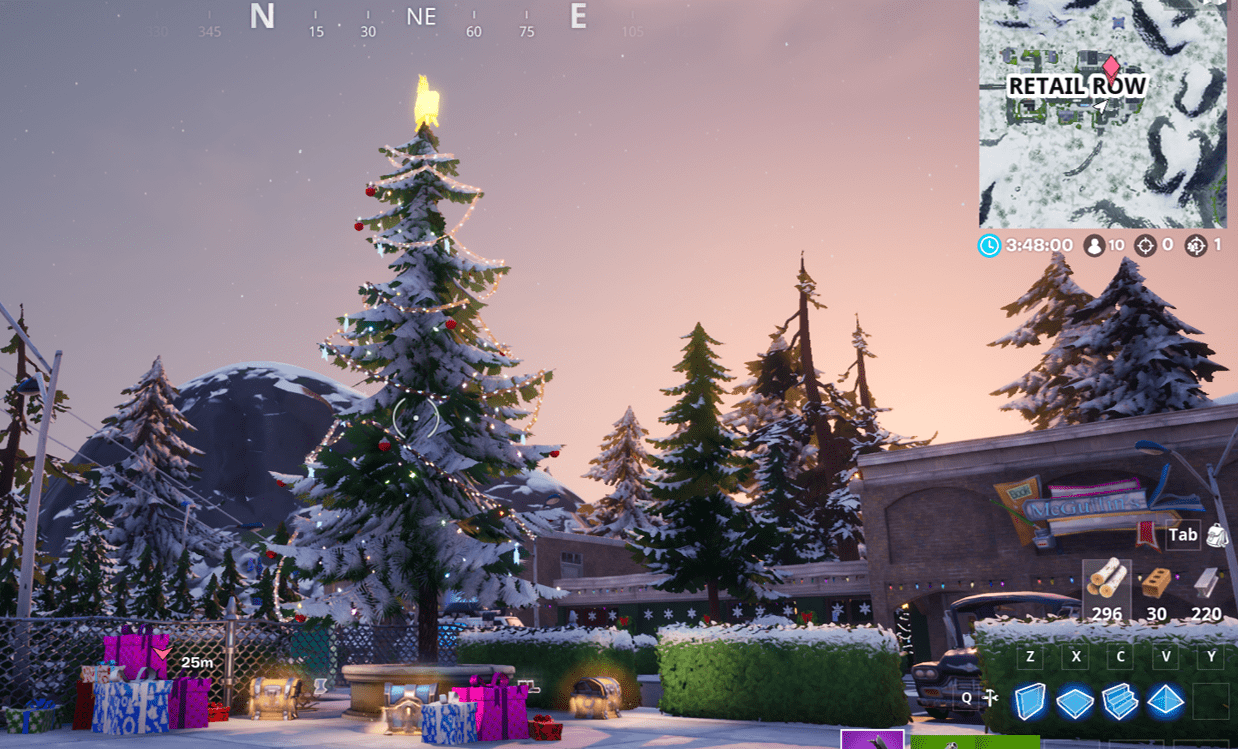 Fortnite Winterfest Holiday Tree Locations - Retail Row