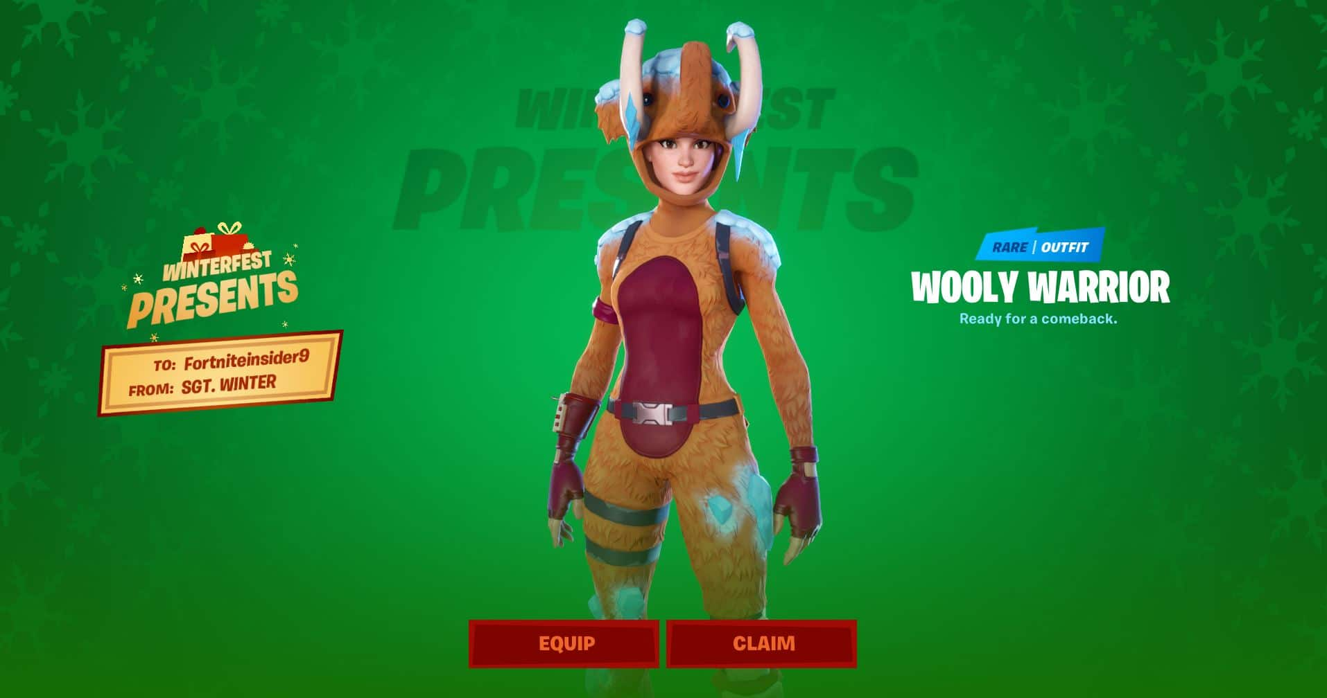 Fortnite Wooly Warrior Skin