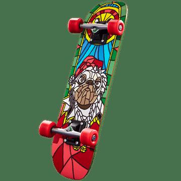 Fortnite Winterfest Day 5 Reward - 2020 Kickflip Back Bling Festive Doggo Style