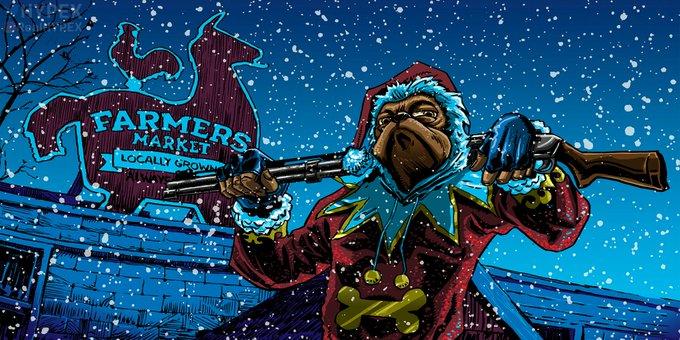 Fortnite Winterfest Reward Day 1 - Grumbly Night Loading Screen