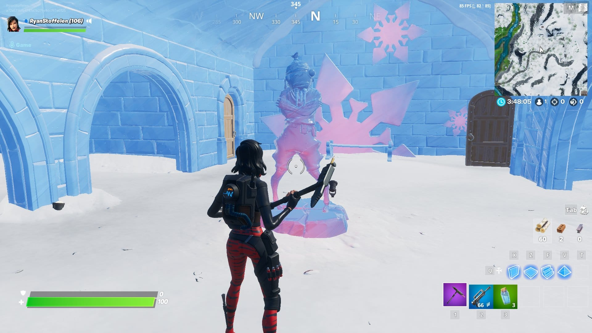 Fortnite v11.30 Map Changes - Frozen Fishsticks Sculpture