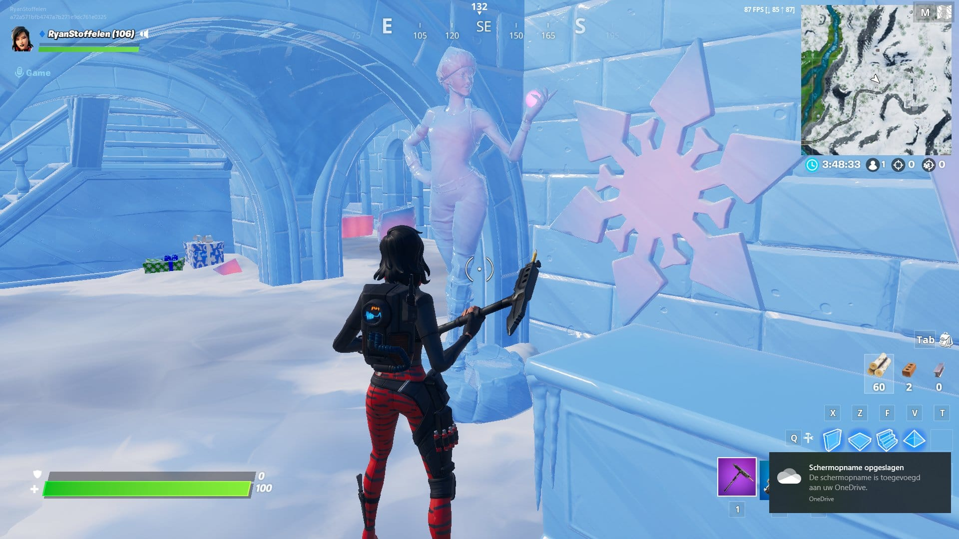 Fortnite v11.30 Map Changes - Frozen Nog Ops Sculpture