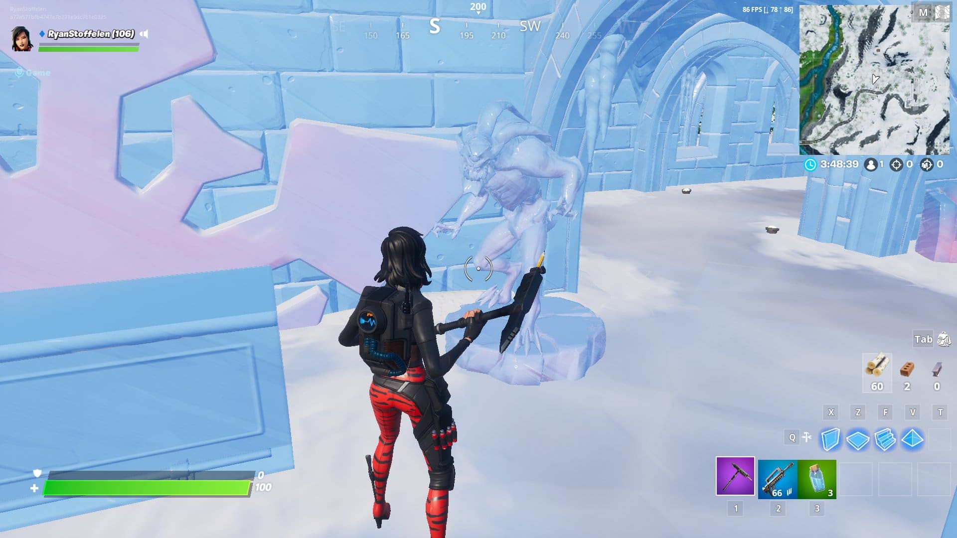 Fortnite v11.30 Map Changes - Frozen The Devourer Sculpture