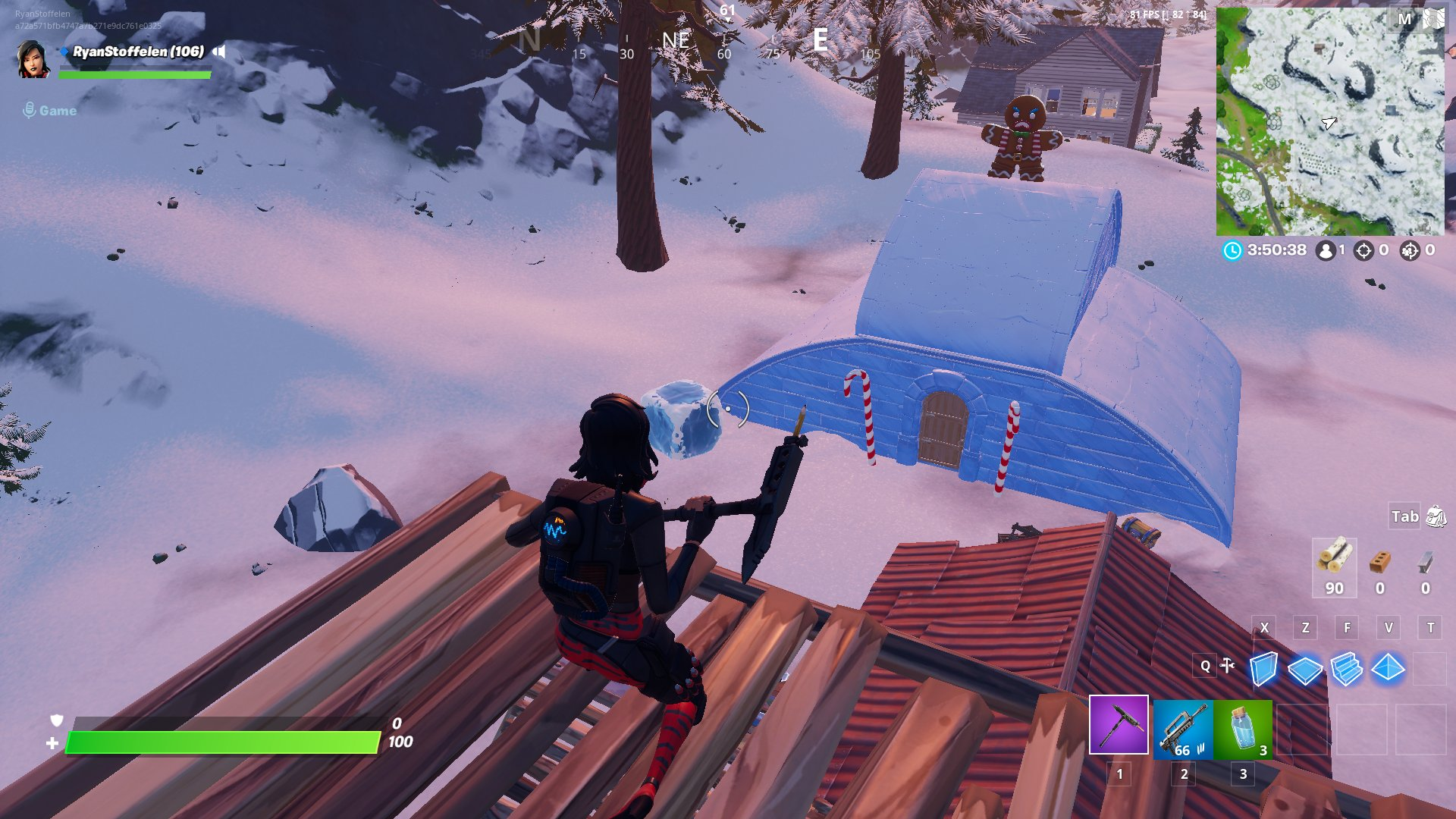 Fortnite v11.30 Map Changes - Gingerbread House