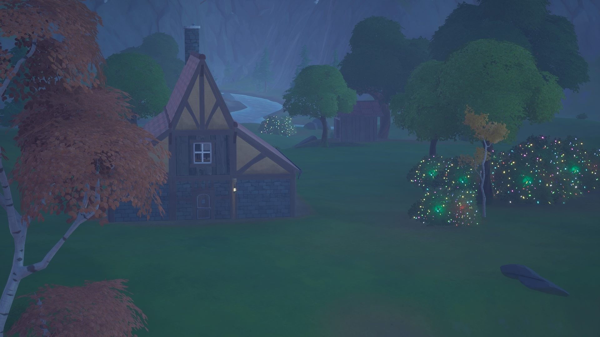 WInter houses & Christmas Bushes
