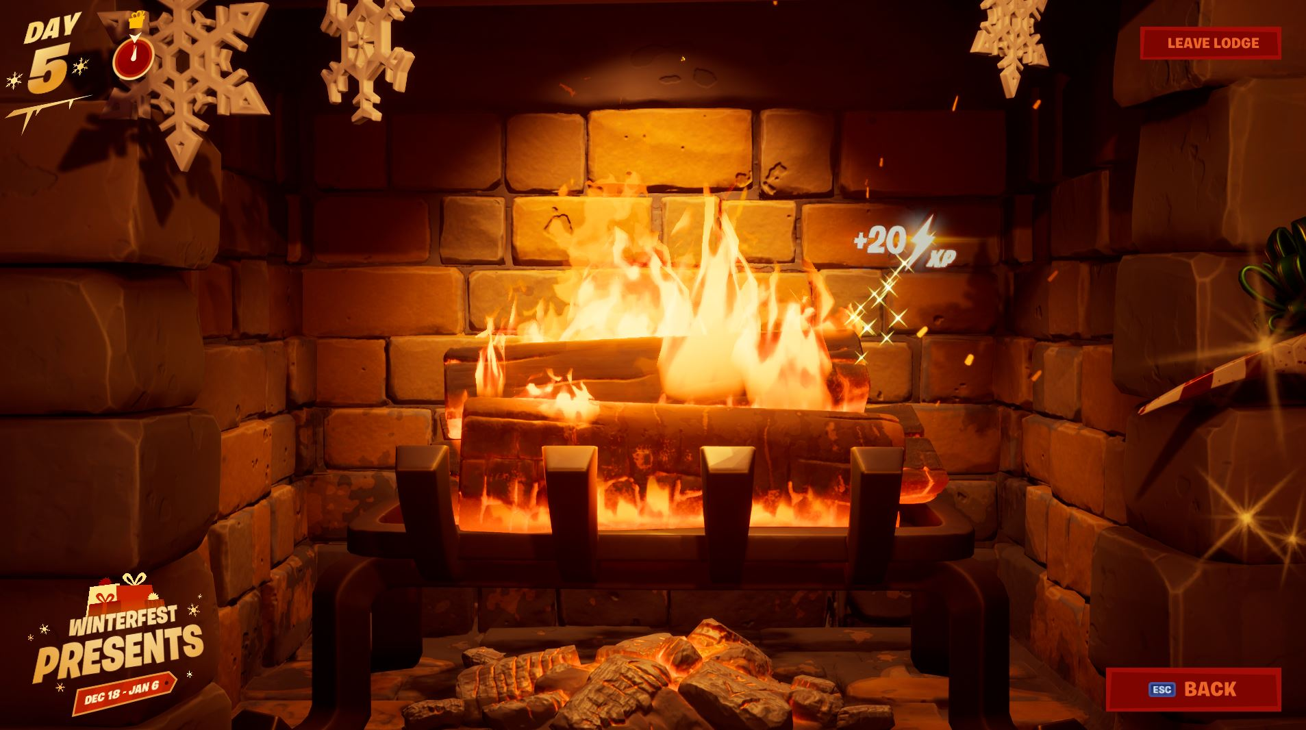 Warm yourself by the fireplace