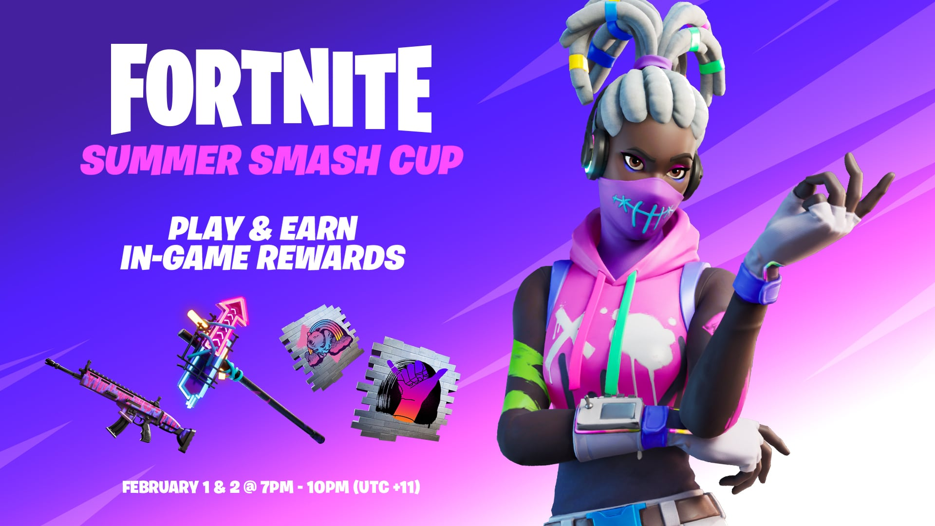 Fortnite Free Cosmetic Rewards for Summer Smash Cup