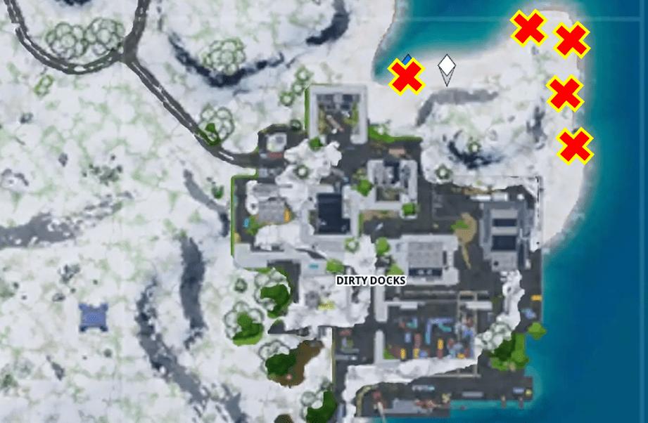Fortnite Frozen Firework Dirty Docks Map Location