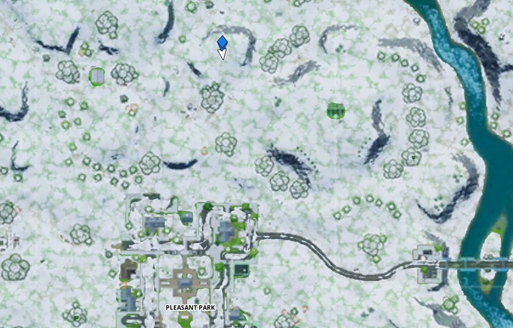 Fortnite Ice Throne Map location