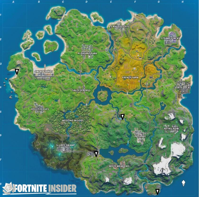 Fortnite No Swimming Signs Locations Map