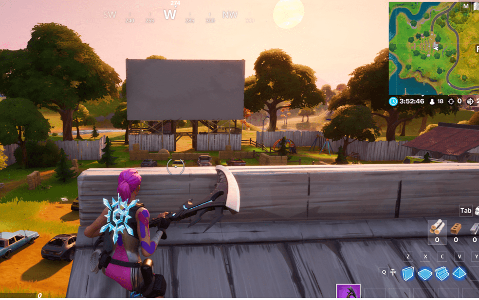 Fortnite Outdoor Movie Theater Location In-Game