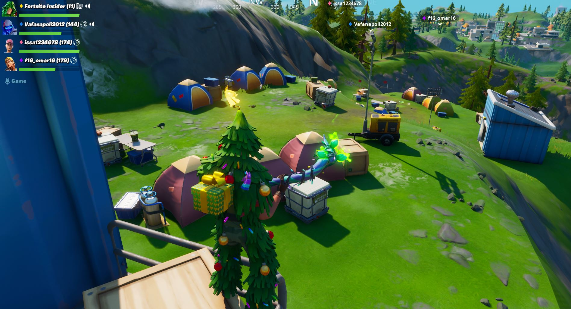 Fortnite mountain base camps