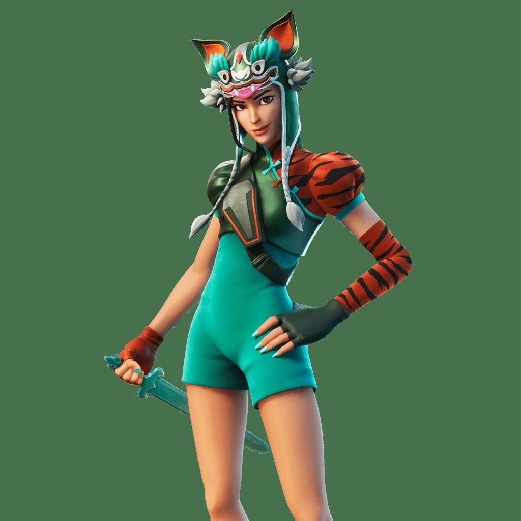 Fortnite v11.40 Leaked Skin - Tigeress