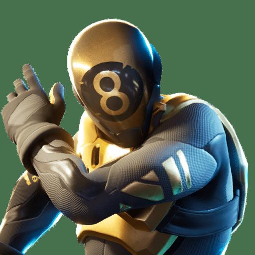 Gold 8 Ball Fortnite Skin Style