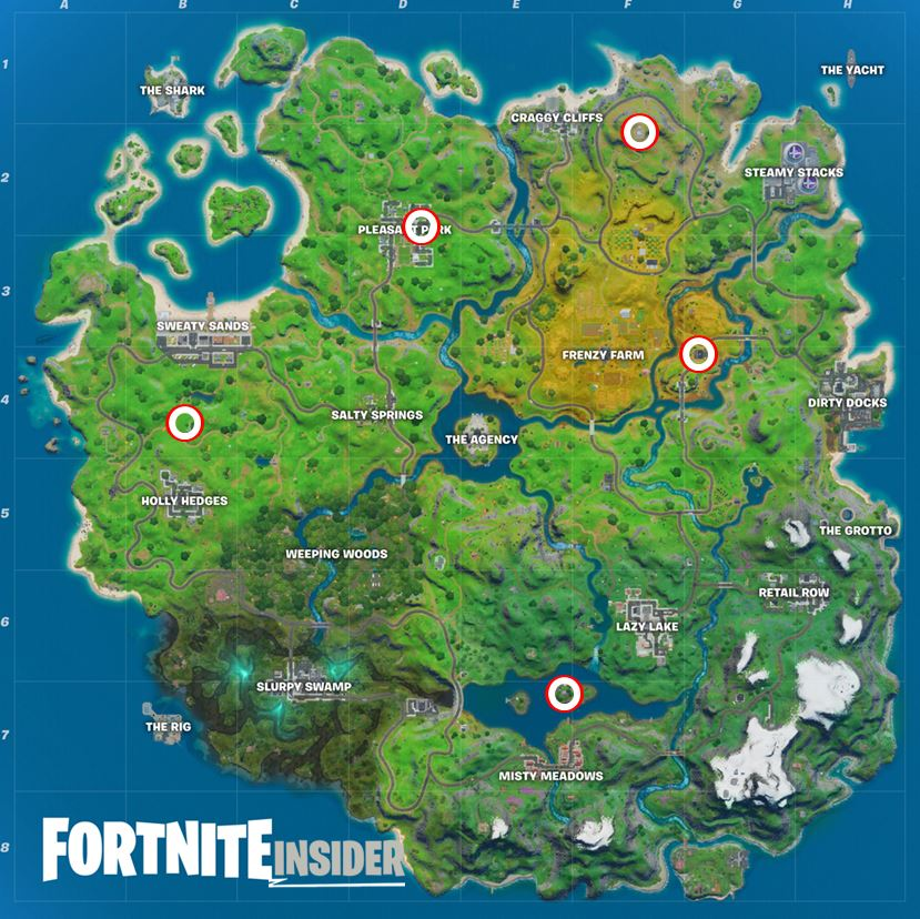All Shadow Safe House Fortnite Map Locations