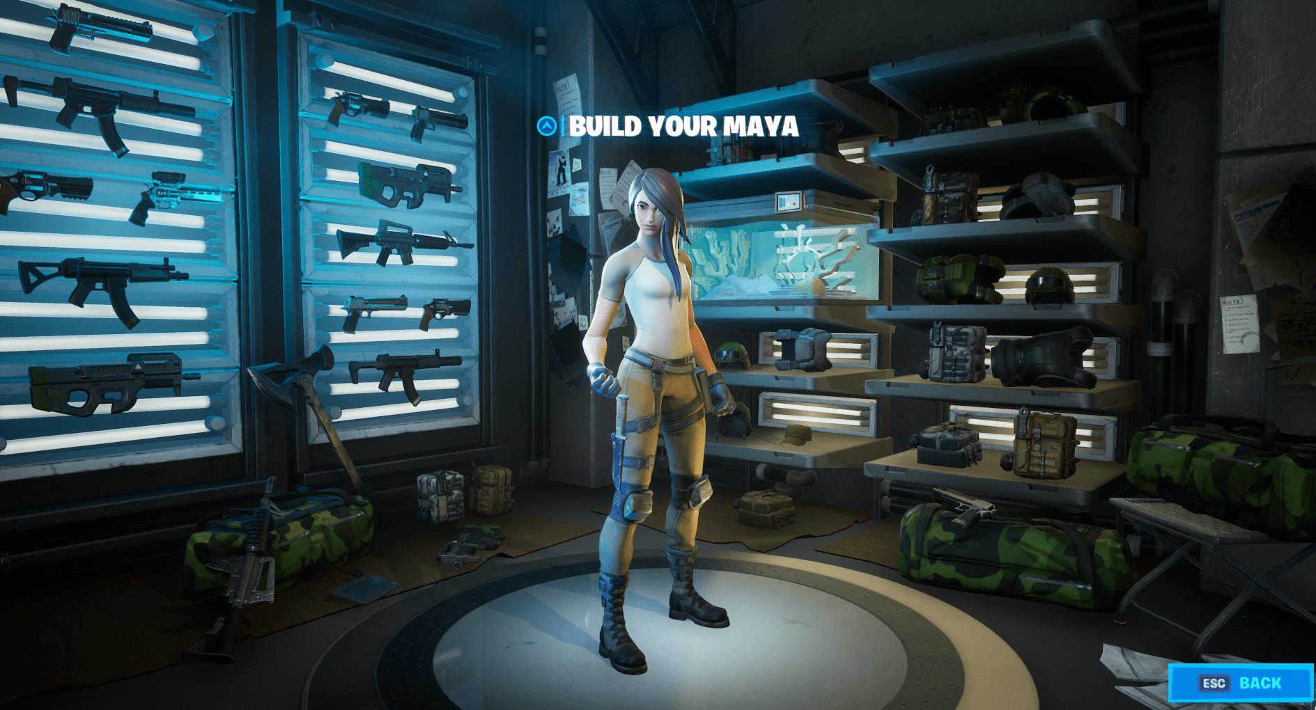 Build Your Maya Fortnite Skin