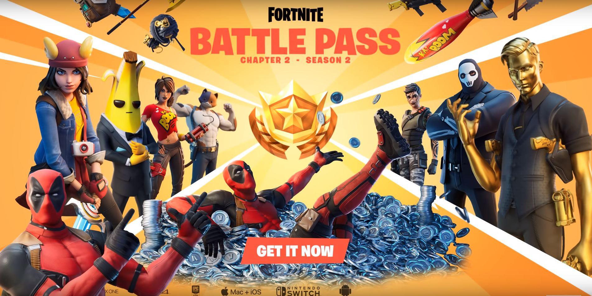 Fortnite Chapter 2 Season 2 Battle Pass Skins - Deadpool Fortnite Skin - Fortnite Insider