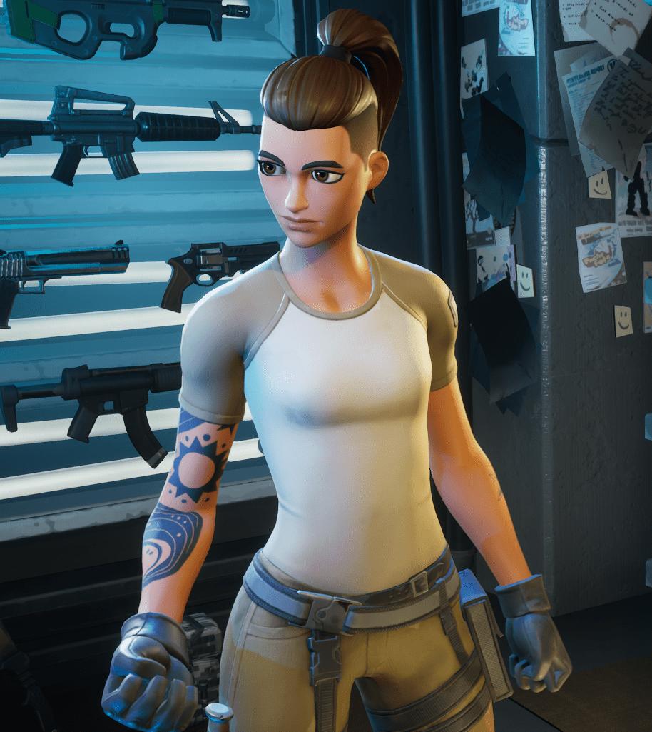 Fortnite Maya Hairstyle Option 3 - Ponytail
