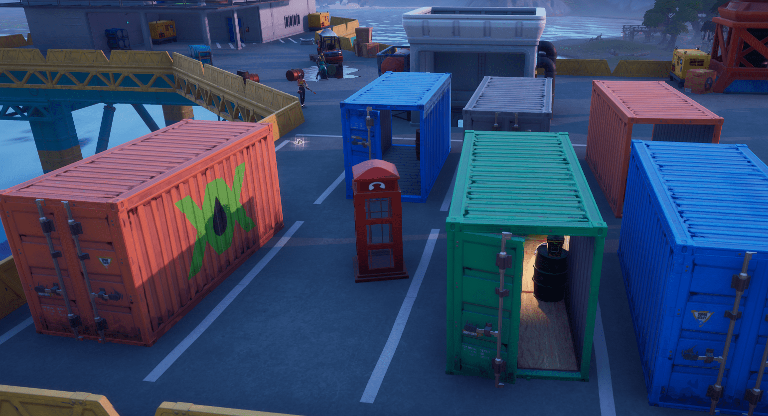Fortnite Phone Booth Locations - The Rig Containers