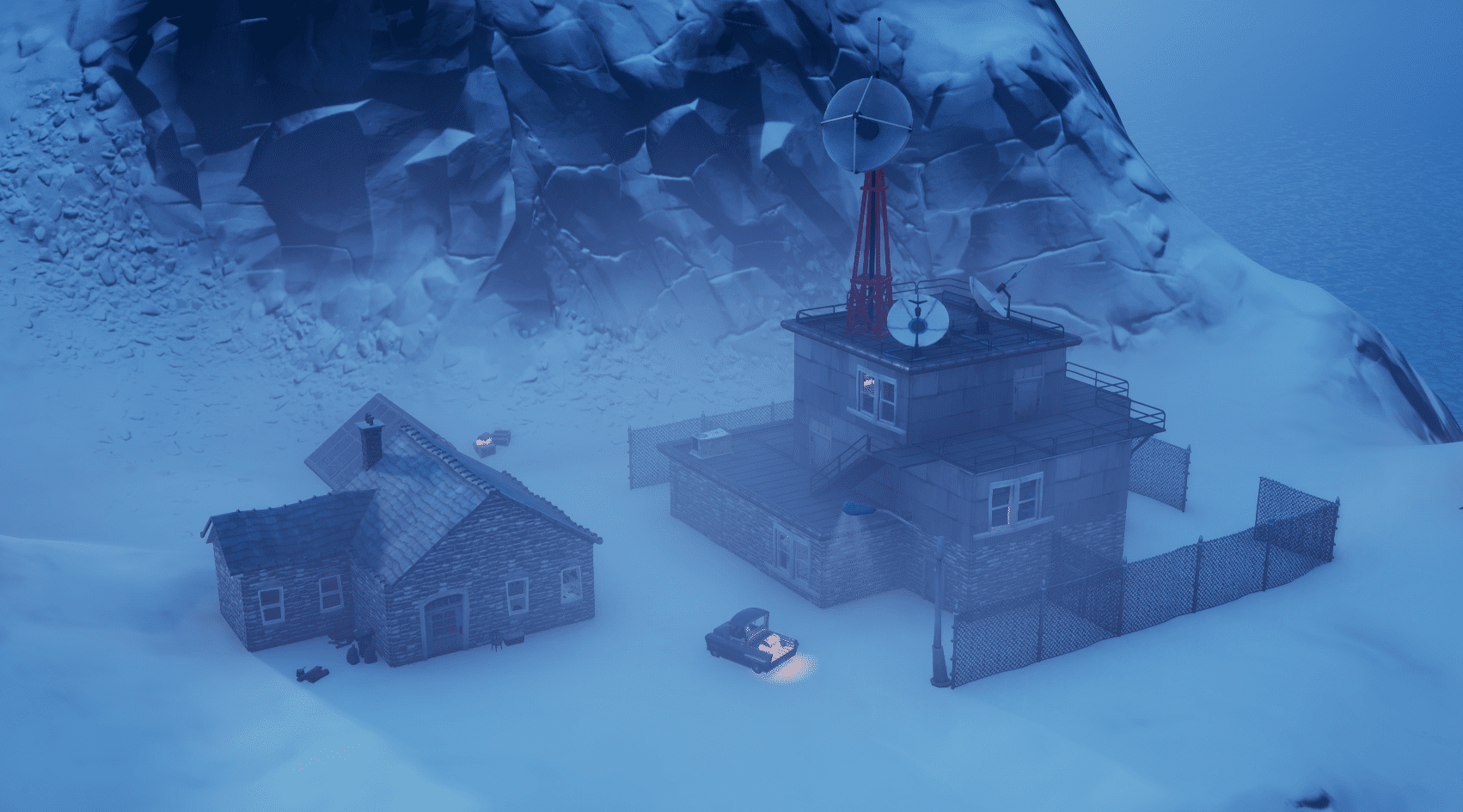 Fortnite v12.00 Map Changes - Abandoned Headquarters East of Misty Meadows