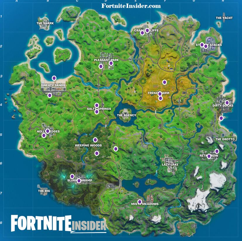 All Fortnite Shadow and Ghost Recruitment Posters Map Locations