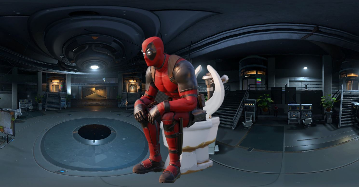 Deadpool Destroy Toilets Fortnite