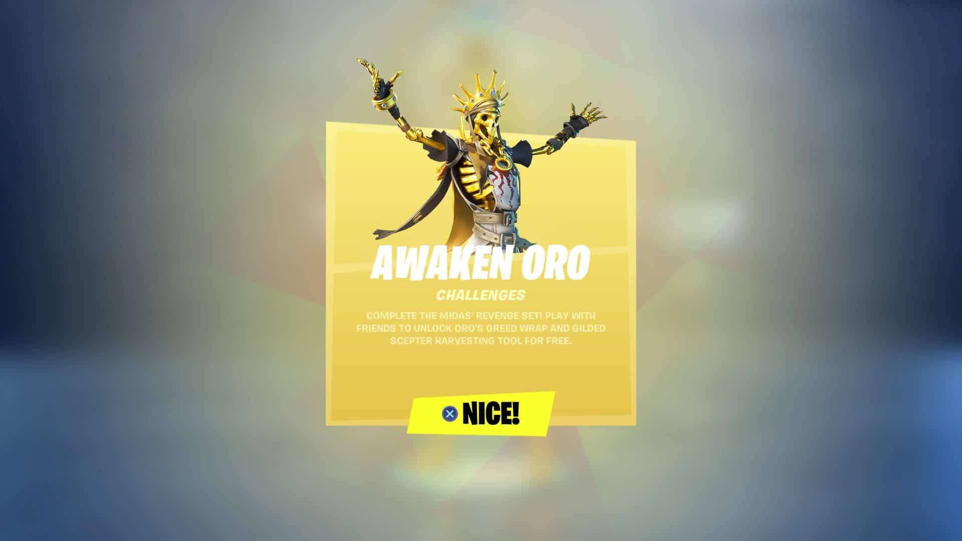 Fortnite Awaken Oro Challenges