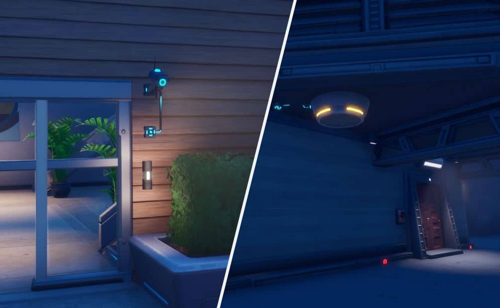 Fortnite Chapter 2 Season 2 Sentry Cameras and Sentry Turrets