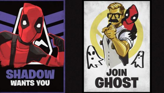 Fortnite Ghost and Shadow Recruitment Posters