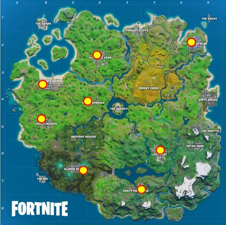 Fortnite TNTina Ghost Style - Shadow Dropboxes Map Location