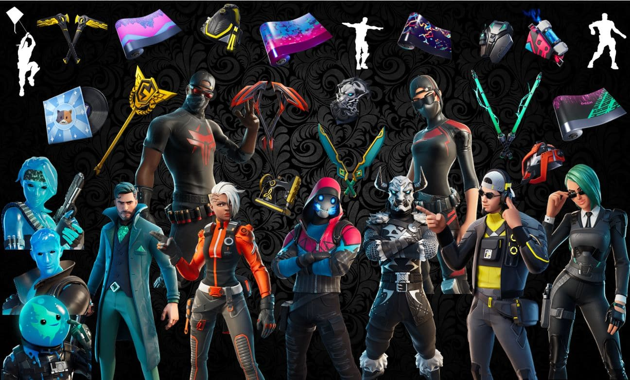 Names and Rarities of All Leaked Fortnite Cosmetics Found in v12.20 Files – Skins, Back Blings, Pickaxes, Emotes & Wraps