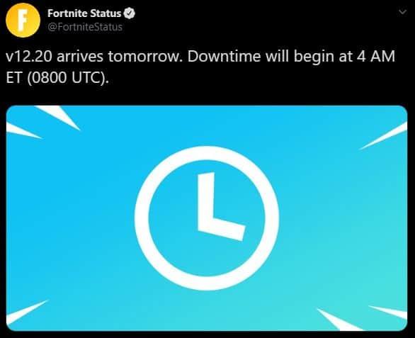 v12.20 Fortnite Update