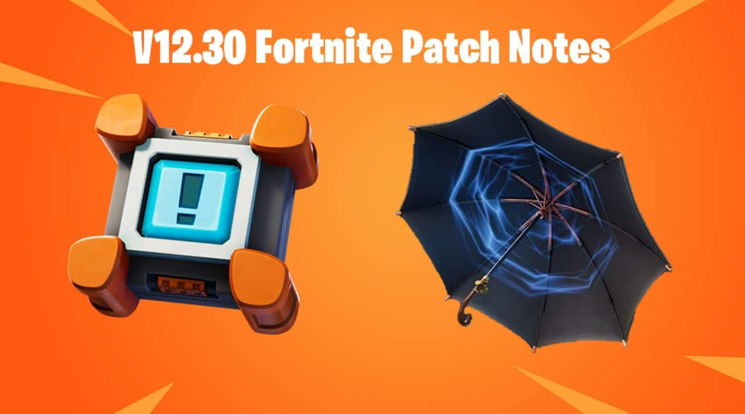 v12.30 Fortnite Patch Notes