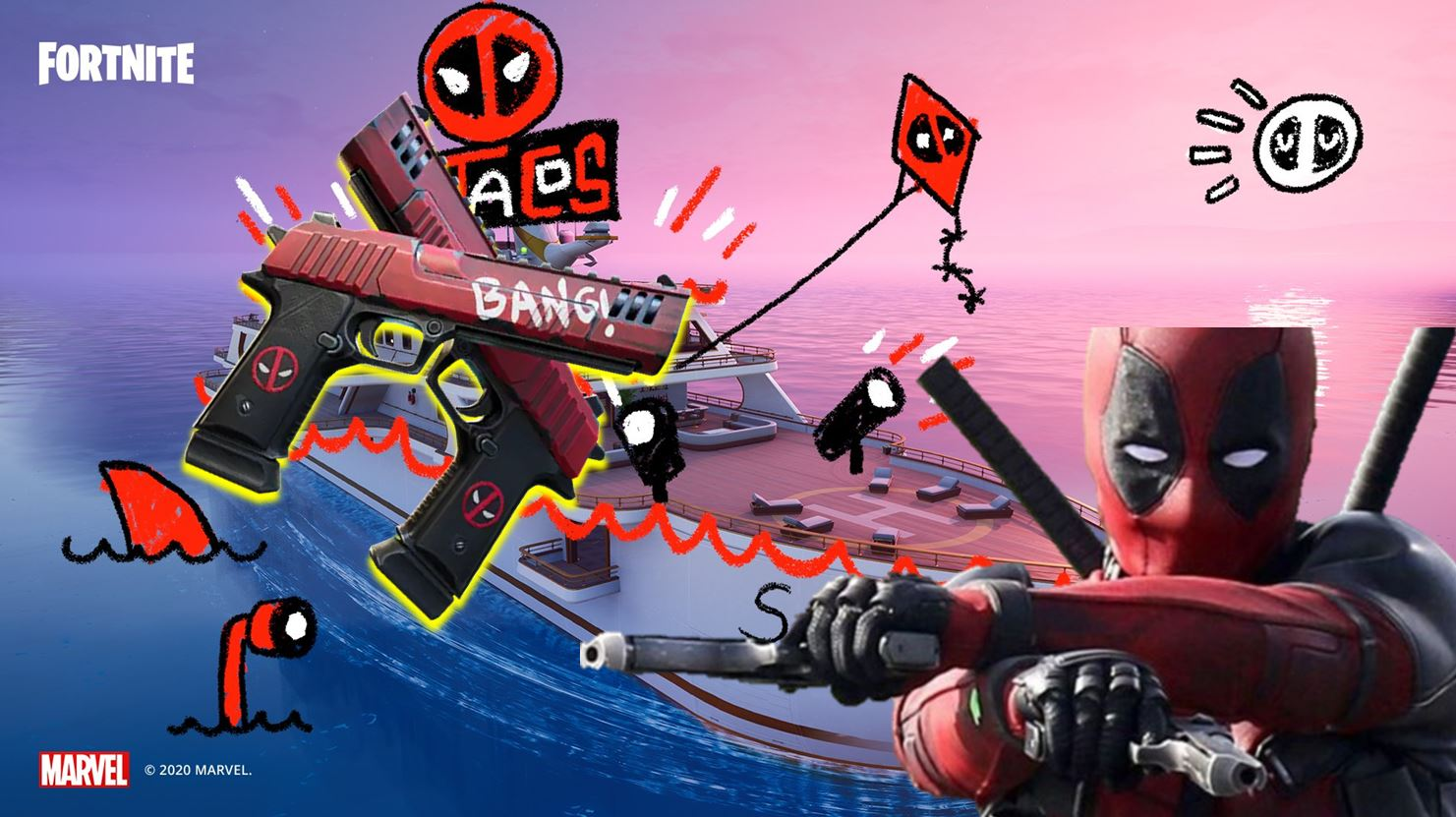 Deadpool Fortnite event revealed: Yacht POI, leaked items and more