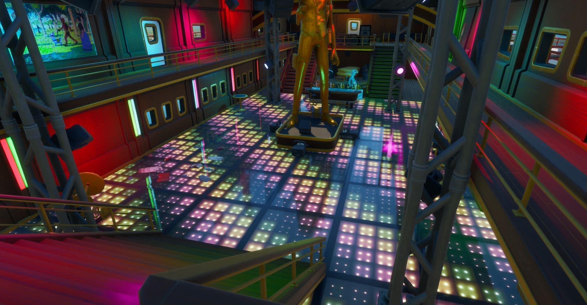 Fortnite Dance Floor Location - The Yacht Dance Floor